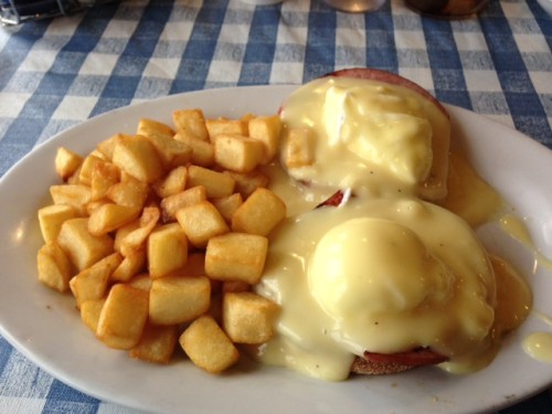 Eggs Benedict at Palladium Family Restaurant